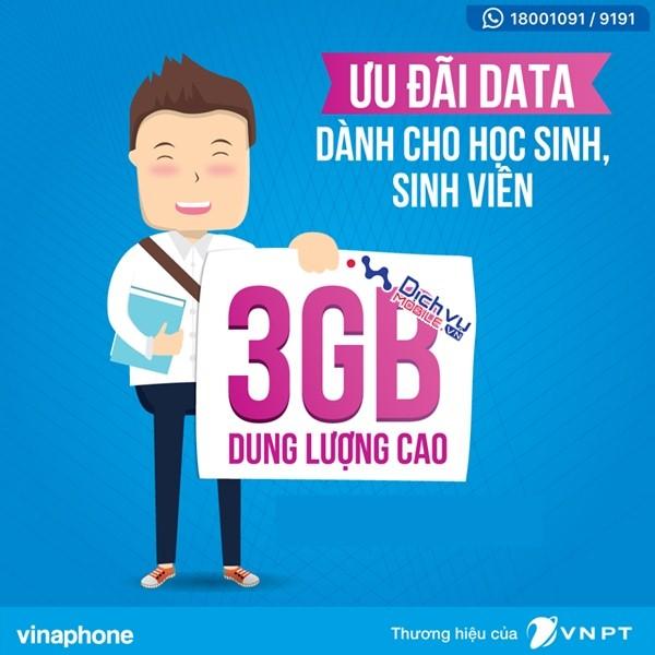 Đăng ký gói BIGSV Vinaphone có ngay 3GB chỉ với 50.000đ