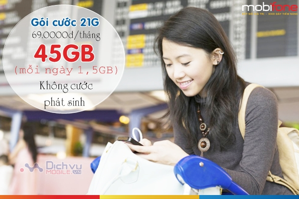 Hướng dẫn đăng ký gói 21G mạng Mobifone