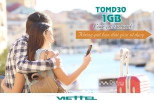 Hướng dẫn đăng ký gói TOMD30 mạng Viettel