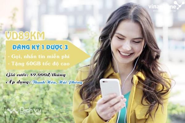Cách đăng ký gói cước VD89KM Vinaphone