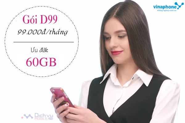 Hướng dẫn đăng ký gói D99 mạng Vinaphone
