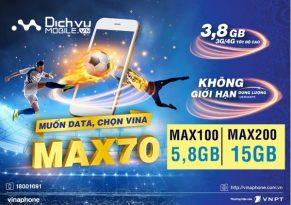 SIÊU HOT: Vinaphone nâng gấp 6 lần ưu đãi các gói MAX giá không thay đổi