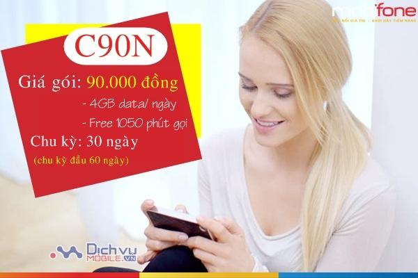 Hướng dẫn đăng ký gói C90N mạng Mobifone