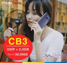 Đăng ký gói CB3 mạng Mobifone nhận ngay 330 phút thoại và 2,3GB data
