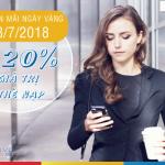 Mobifone khuyến mãi 20% thẻ nạp ngày 18/7/2018