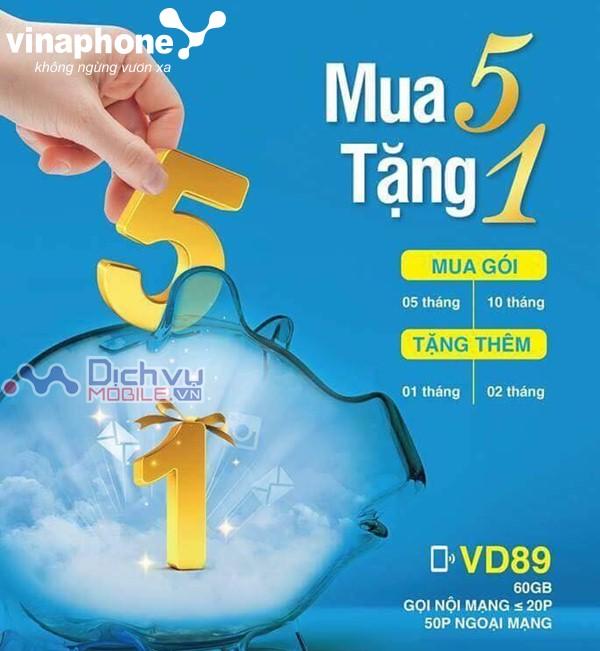 Vinaphone khuyến mãi giảm đến 2 tháng sử dụng gói VD89 chu kỳ dài