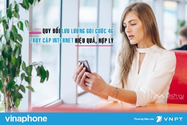 Bảng sử dụng dịch vụ và quy đổi lưu lượng gói cước 4G VinaPhone