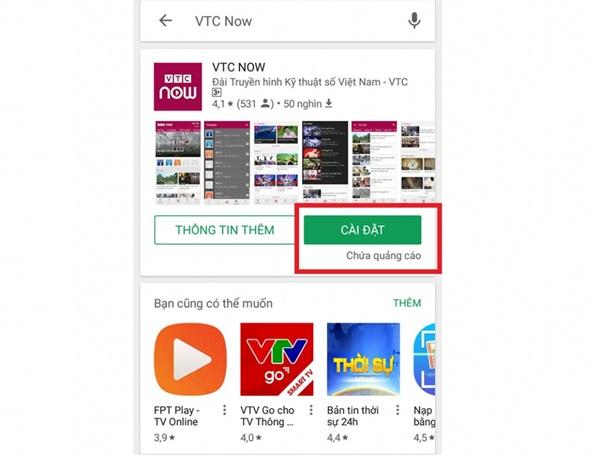 Cách tải ứng dụng VTC Now xem U23 Việt Nam đá tại ASIAD 2018 cực chuẩn