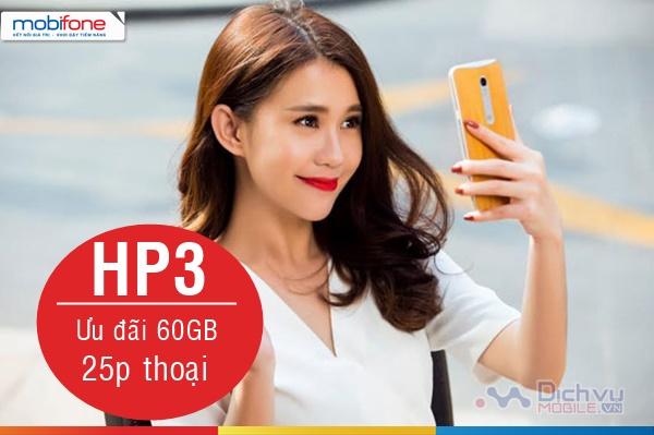 Đăng ký gói HP3 Mobifone nhận đến 60GB mỗi tháng và 25 phút thoại quốc tế