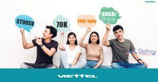 Đăng ký gói ST90SV mạng Viettel nhận ngay 2GB mỗi ngày chỉ 70,000đ/tháng