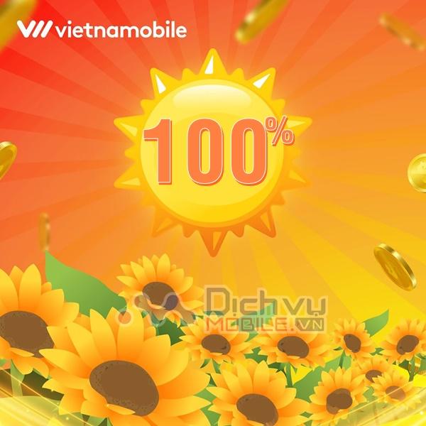 Vietnamobile khuyến mãi 100% giá trị thẻ nạp ngày 18-19/1/2020