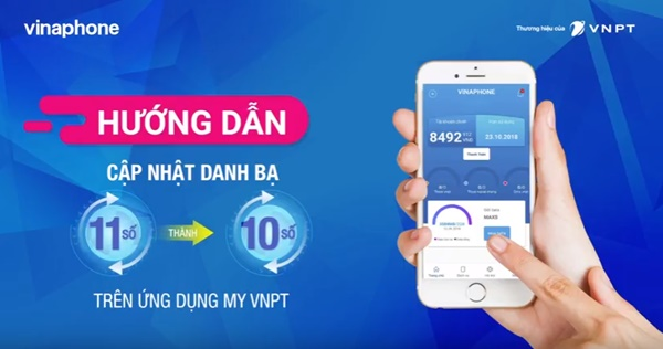 Cách chuyển đổi danh bạ 11 số thành 10 số mạng Vinaphone qua My VNPT