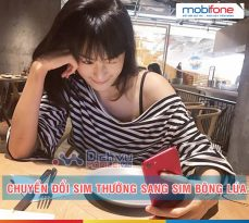 Cách chuyển sim thường sang sim bông lúa Mobifone giữ nguyên số điện thoại