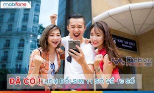 HOT: Đã có lịch đổi sim 11 số về 10 số chính thức của Mobifone