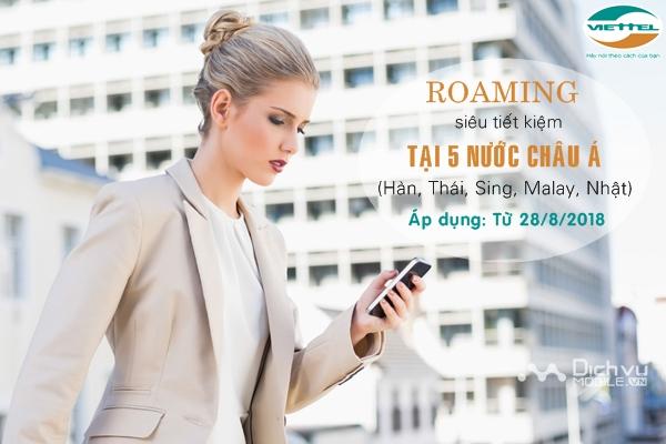 Viettel giảm 5 lần cước data roaming dịp lễ 2/9