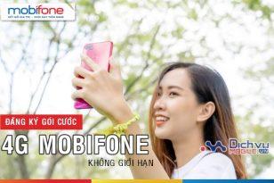 Đăng ký các gói 4G Mobifone không giới hạn, lướt web thả ga