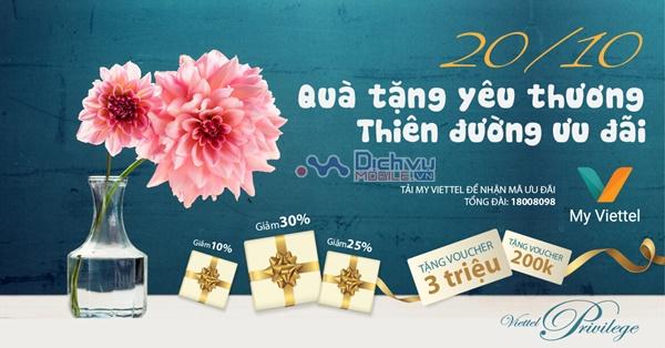 Đón 20/10 Viettel dành tặng khách hàng nhiều ưu đãi hấp dẫn