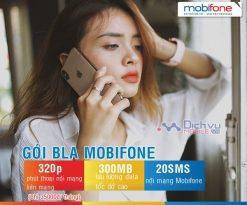 Đăng ký gói BLA mạng Mobifone nhận 320 phút thoại, 300MB chỉ 35,000đ