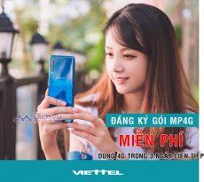 Đăng ký gói MP4G Viettel để được miễn phí dùng mạng 4G không giới hạn