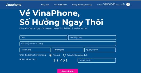 Các địa chỉ đăng ký chuyển mạng giữ số online mạng Vinaphone, Viettel, Mobifone