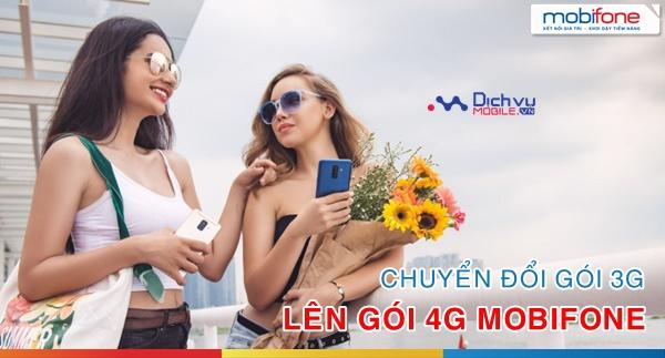 Hướng dẫn chuyển từ gói 3G lên gói 4G mạng Mobifone