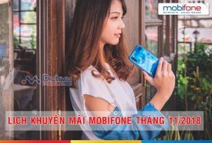 Lịch khuyến mãi nạp thẻ tháng 11/2018 của Mobifone