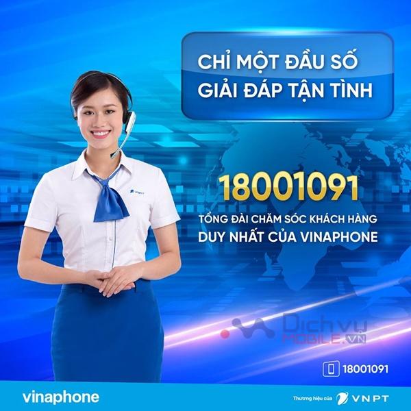 Tổng đài 9191 ngưng hoạt động Vinaphone chỉ áp dụng 1 đầu số tổng đài 18001091
