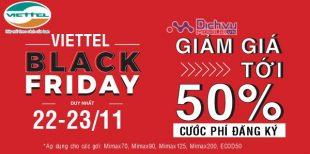 Viettel khuyến mãi giảm từ 20% đến 50% cước đăng ký 4G dịp Black Friday