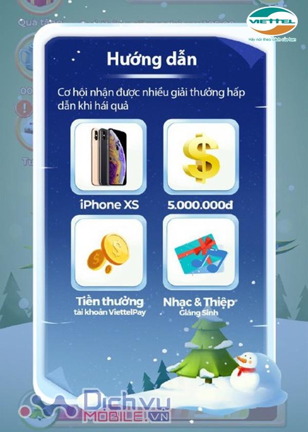 Cách sử dụng tính năng game Noel qua ViettelPay nhận iPhone XS và tiền mặt 5 triệu đồng