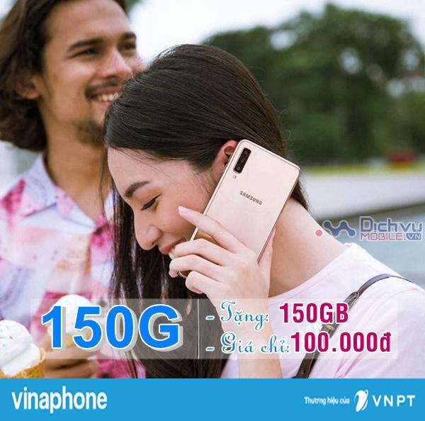 Đăng ký gói cước 150G mạng Vinaphone nhận 150GB mỗi tháng