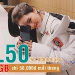 Đăng ký gói XL50 mạng Viettel nhận 5GB chỉ 50,000đ mỗi tháng