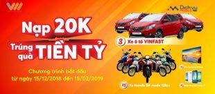 HOT: Vietnamobile khuyến mãi nạp 20k trúng ô tô tiền tỷ