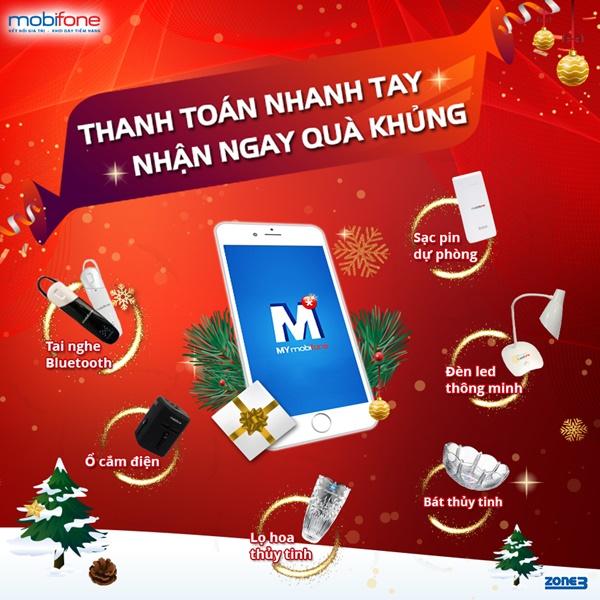 Thanh toán cước trả sau Mobifone online nhận ngay quà siêu khủng