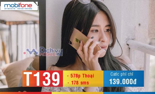 Đăng ký gói T139 Mobifone tám thả ga, nhắn tin xả láng