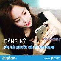 Hướng dẫn đăng ký các gói khuyến mãi 3T Vinaphone siêu hot