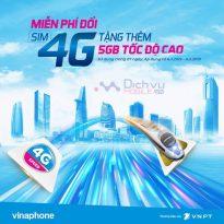 Vinaphone tặng 5GB liền tay cho khách hàng đổi sim 4G