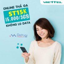 Đăng ký gói ST15K Viettel nhận 3GB dùng trong 3 ngày