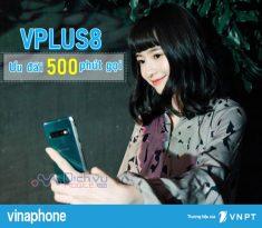 Đăng ký gói VPLUS8 Vinaphone ưu đãi đến 500 phút thoại