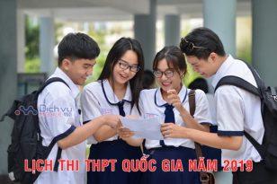 Lịch thi THPT Quốc Gia năm 2019 chính xác nhất