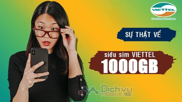 Sự thật về sim Viettel 1000GB có thể bạn chưa biết!