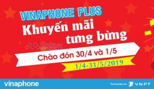 Vinaphone khuyến mãi hấp dẫn cho hội viên Vinaphone Plus dịp 30/4-1/5