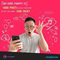 Tận hưởng 1000 phút thoại, 2GB/ ngày cùng gói FHAPPY 3T Vinaphone