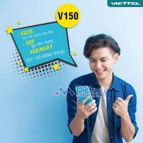Đăng ký gói cước V150 mạng Viettel nhận 4GB/ ngày, free gọi chỉ 150k