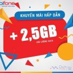 Mobifone khuyến mãi nạp tiền tặng đến 2.5GB data trong ngày 15/5/2019