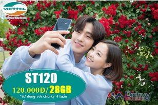 Đăng ký gói cước ST120 Viettel nhận 28GB chỉ 120,000đ