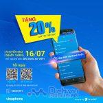 Vinaphone khuyến mãi 20% giá trị thẻ nạp qua MY VNPT 16/7/2019