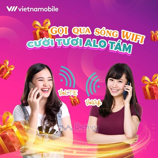 Vietnamobile triển khai dịch vụ thoại trên mạng wifi VoLTE và VoWifi miễn phí