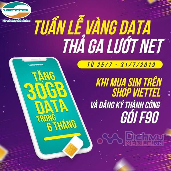 Viettel khuyến mãi tặng 30GB miễn phí 6 tháng liên tiếp siêu hấp dẫn