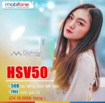Đăng ký gói HSV50 Mobifone nhận 5GB và free data giải trí chỉ 50k/ tháng
