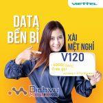 Đăng ký gói V120 Viettel nhận 60GB và free gọi chỉ với 120,000đ
